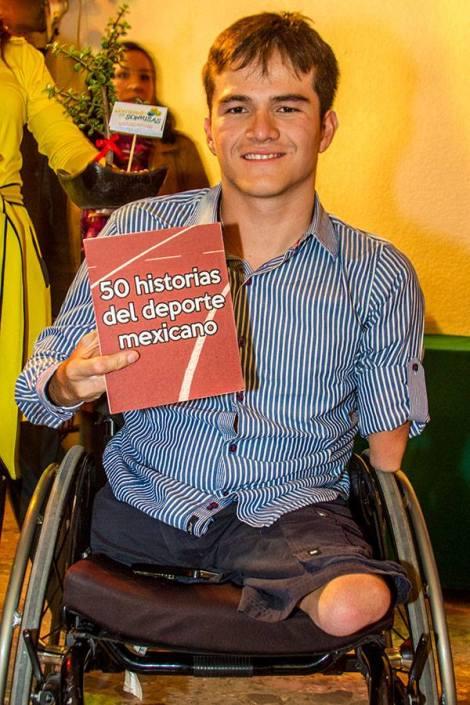 Gustavo Sánchez, doble campeón y cuádruple medallista paralímpico de natación en Londres 2012. Gustavo es una de las 50 historias del deporte mexicano.